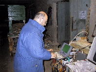 In action at his repeater site